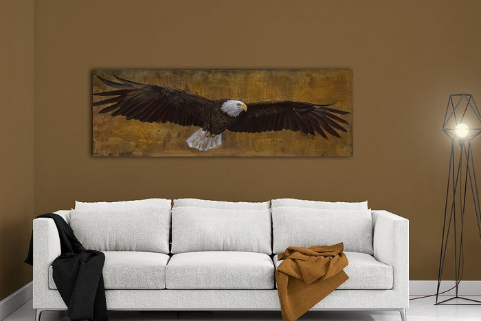 american freedom eagle in living room