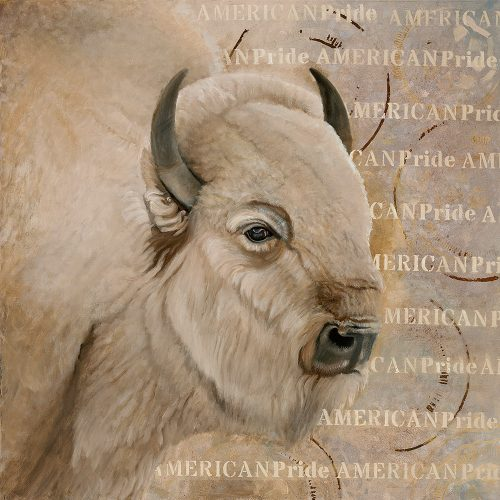 american pride white bison by sharon brening