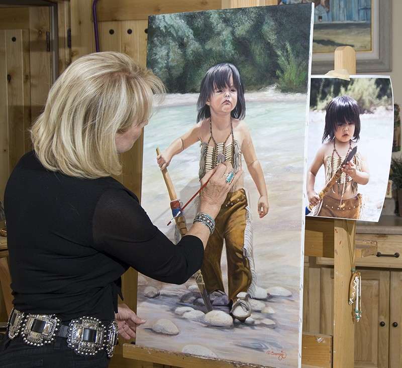 brening in her artist studio