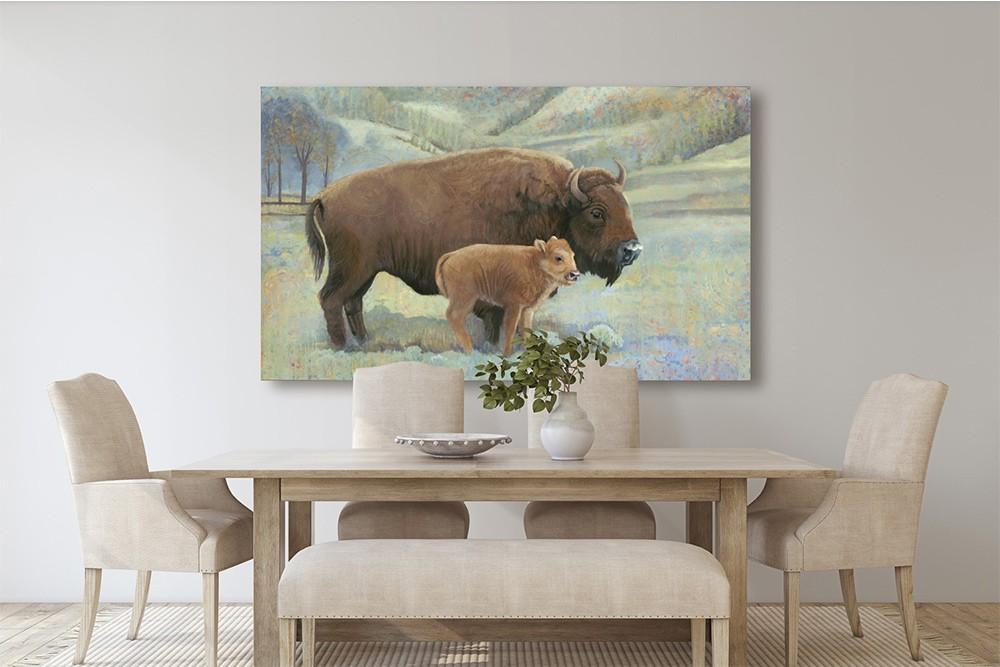 buffalo roam in the living room