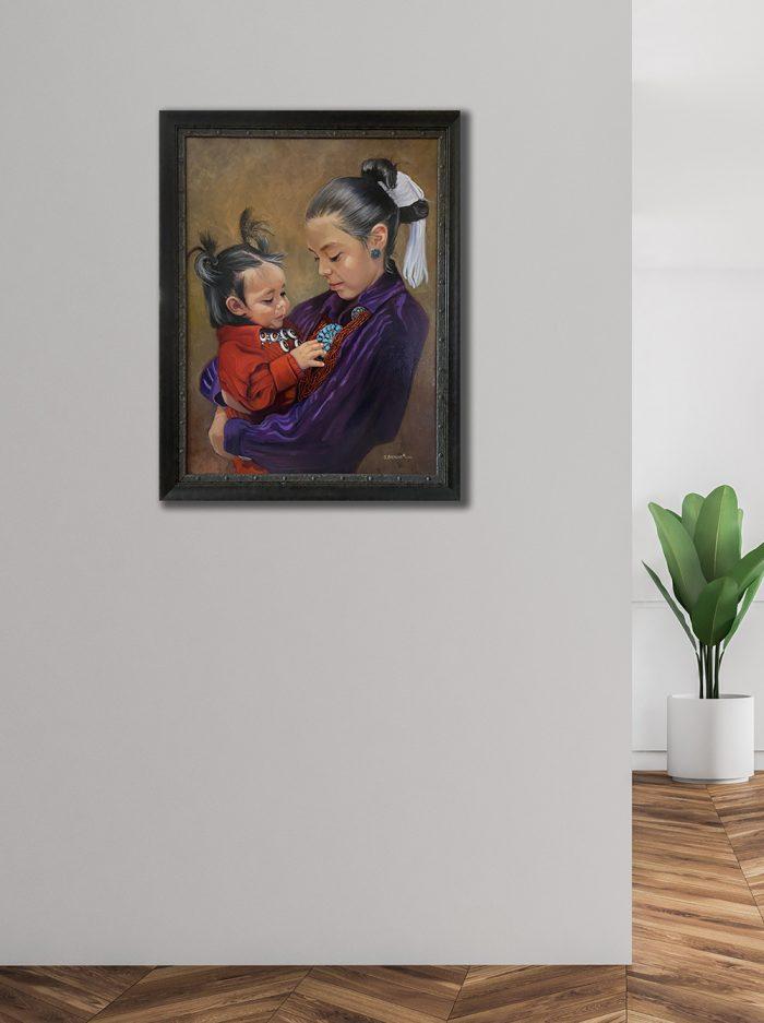 my little luna framed on the wall