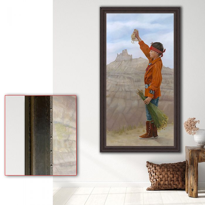 rainmaker in living room with frame