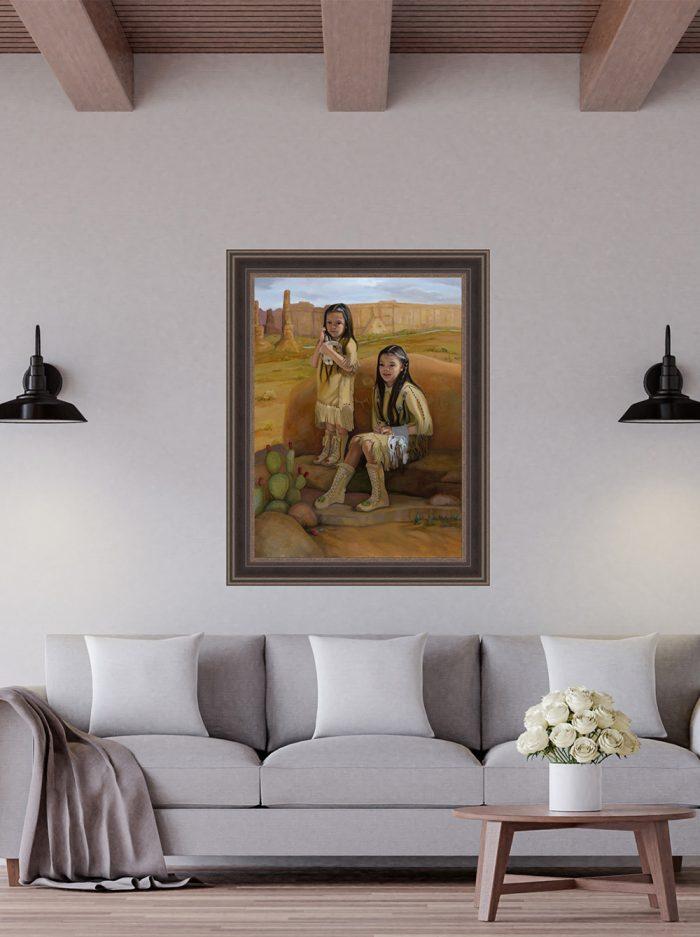 raising tradition framed in living room